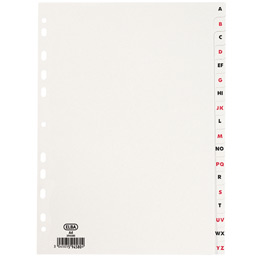 Intercalaires alphabétiques Elba - A4 - carte dossier - jeu de 18 (photo)