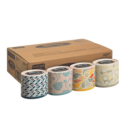 Mouchoirs triple épaisseur Kleenex Collection « Ovale » - 210 mm - blanc (photo)