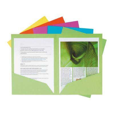 Chemise fine Nature Future 80 feuilles A4 24 x 32 cm Carton couleurs assorties - lot de 25