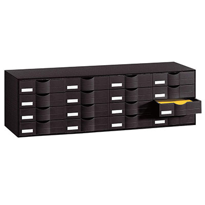 Bloc classeur 16 tiroirs noir