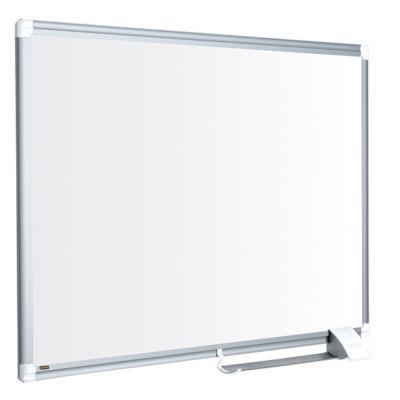 Tableau blanc Bi-Office Maya New Generation - surface en acier laqué - magnétique - cadre en aluminium gris - 1 200 x 900 mm
