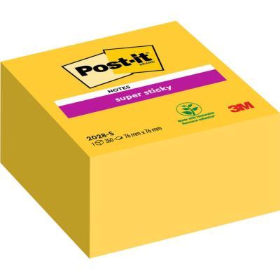 Bloc cube Post-it  350 feuilles Supersticky 7.6 x 7.6 cm jaune jonquille 2028S