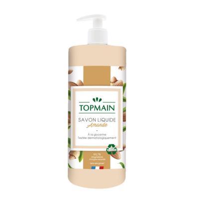Savon liquide doux aux huiles essentielles - pour mains et corps - parfum amandes - flacon de 500 ml