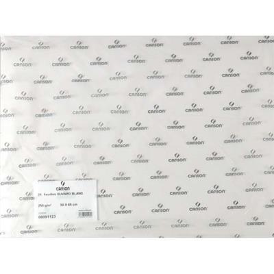 Feuille de papier buvard Canson - 250g - 50x65cm - blanc - Réf 91123 (photo)