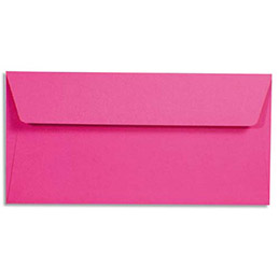 Enveloppes Pollen de Clairefontaine - format DL 110 x 220 mm - fuschia - 5575 - paquet de 20 enveloppes