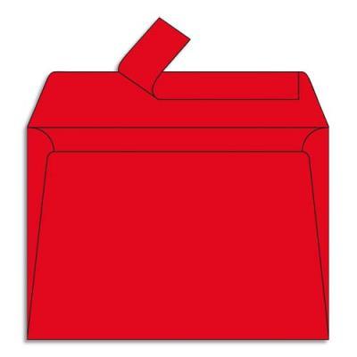 Enveloppe Pollen de Clairefontaine - format 114 x 162 mm - rouge groseille - 5586 - paquet de 20