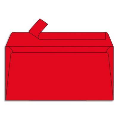 Enveloppe Pollen de Clairefontaine - format DL 110 x 220 mm - rouge groseille - 5585 - paquet de 20 (photo)