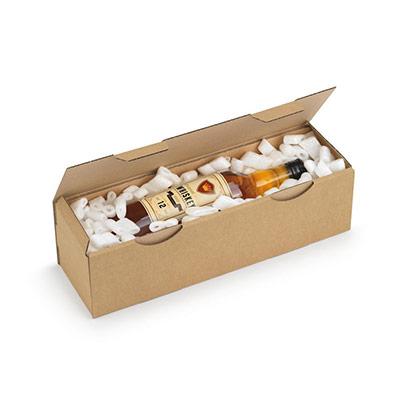 Boîte d'expédition en carton Raja - simple cannelure - L.33 x l.25 x H.8 cm - brun (photo)