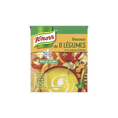 Soupe Knorr - douceur 8 légumes - brique de 30 cl