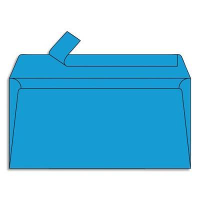 Enveloppe Pollen de Clairefontaine - format DL 110 x 220 mm - bleu turquoise - référence  5555 - paquet de 20 (photo)