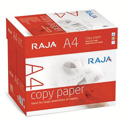 Papier blanc Raja paper - A4 - 80g - CIE 146 - Copy Paper - boîte de 2500 feuilles