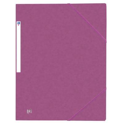 Chemises 3 rabats à élastiques Oxford Top File + A4 - violet