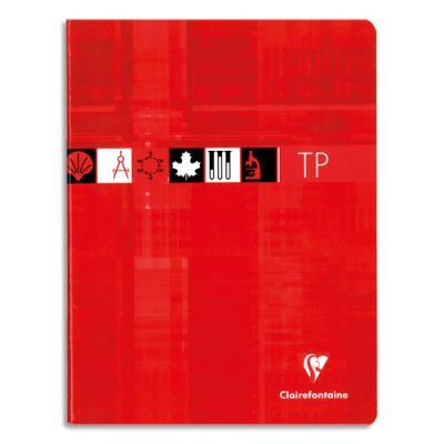 Cahiers De Travaux Pratiques Clairefontaine 17x22 Cm 80 Pages Grands Carreaux 90 G Et Feuille De Dessin 125 G