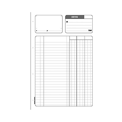 Manifold Le Dauphin - autocopiant - devis 210x297 - 50 feuillets - tripli