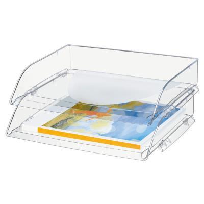 Corbeille à courrier Cep à l'italienne - A4 - coloris cristal