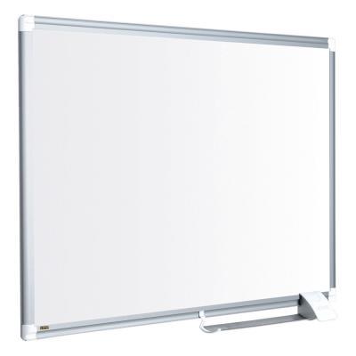 Tableau blanc Bi-Office Maya New Generation - magnétique - surface en acier laqué - cadre en aluminium gris - 1 800 x 1 200 mm