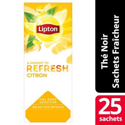 Boîte de 25 sachets de thé gout citron Lipton (photo)