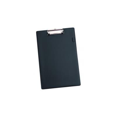 Porte bloc Alba en plastique noir à pince métallique - format 21 x 29,7 cm (photo)