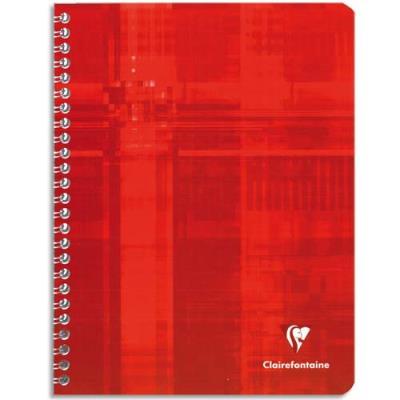 Cahier Clairefontaine Metric - reliure spirales - 17 x 22 cm - 100 pages - petits carreaux - papier 90g