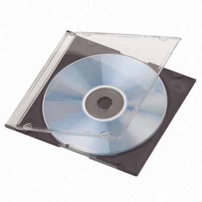 Boitier CD/DVD - slim - noir - lot de 20