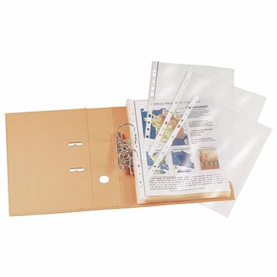 Pochettes perforées A4 - PVC lisse 10/100 - boîte de 25 (photo)