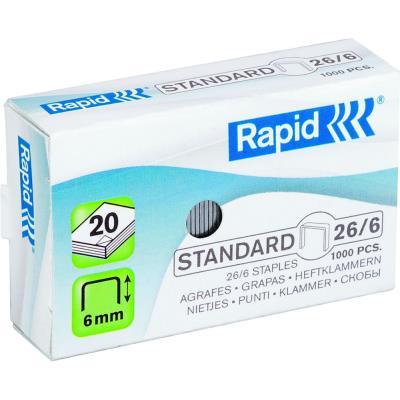 Agrafes Rapid Nº26/6 - galvanisées - boîte de 1000