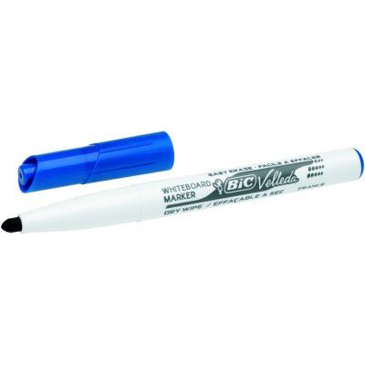 Marqueur Bic Velleda 1741 effaçable à sec - pointe ogive 2mm - bleu