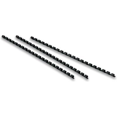 Baguette de reliure à spirale A4 - 10 mm - noir - boîte 100 unités (photo)