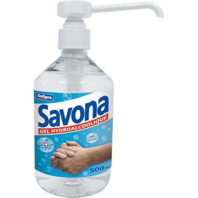 Gel hydroalcoolique pour les mains Savona - 500 mL