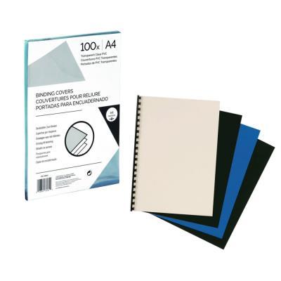 Couvertures de reliure - A4 - Carton - blanc brillant - paquet 100 unités