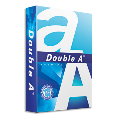 Papier Double A en promotion - 80 g - A4 - CIE 165 - ramette de 500 feuilles (photo)