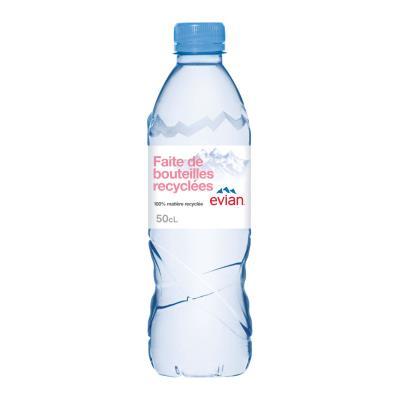 Bouteille d'eau minérale Evian - 50 cl (photo)