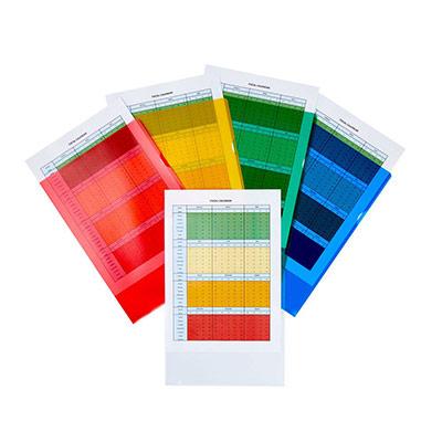 Pochettes coin A4 polypropylène 14/100 - couleurs assorties - boîte de 25