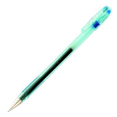 Stylo à bille Pilot  G1 07 - pointe moyenne - encre gel bleue - corps plastique et capuchon