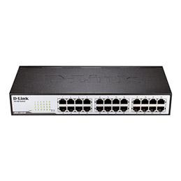 D-Link DES 1024D - Commutateur - non géré - 24 x 10/100 - de bureau, Montable sur rack