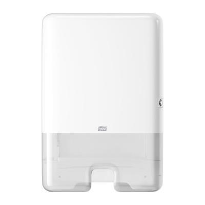 Distributeur essuie mains Tork H2 en ABS blanc - semi transparent - jusqu'à 400 feuilles (photo)
