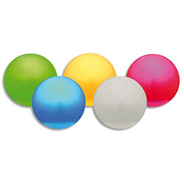 Lot de 5 ballons nacrés diamètre 12 cm poids 150g regonflables coloris assortis (photo)