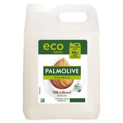 Crème lavante liquide Palmolive - au lait d'amande - Bidon de 5L (photo)