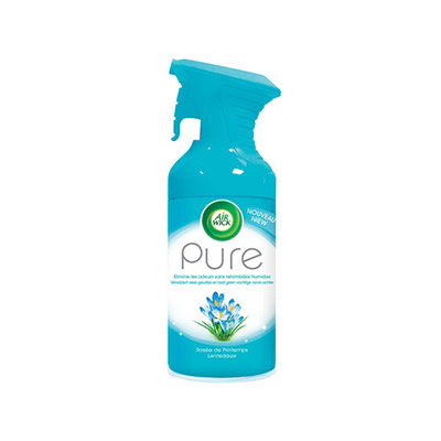 Désodorisant d'atmosphère Airwick Pure - 250 ml - formule sans eau - parfum concentré rosée de printemps (photo)