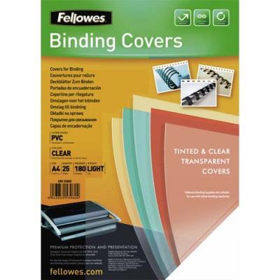 Couvertures transparentes Fellowes - PVC - format A4 - 180 microns - boîte de 25