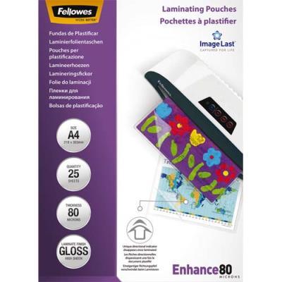 Pochettes de plastification Fellowes - A4 - 80 microns - boîte de 25