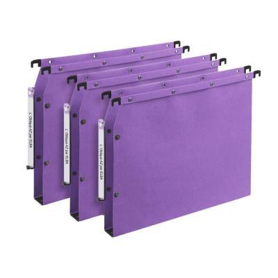 Dossiers suspendus AZV en carte Canson lilas - pour armoire - fond 30 mm