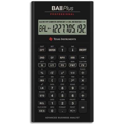 Calculatrice Financière BA II Plus Professional - professionnel (photo)