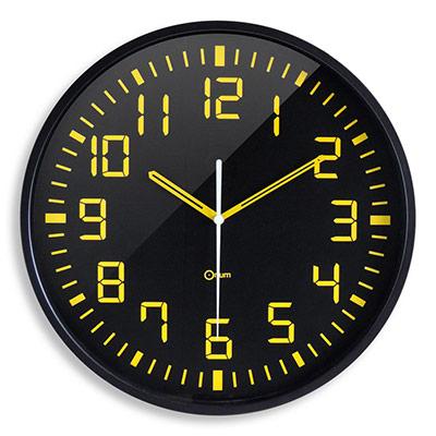 Horloge murale analogique Contraste Ø 30 cm - noir (photo)