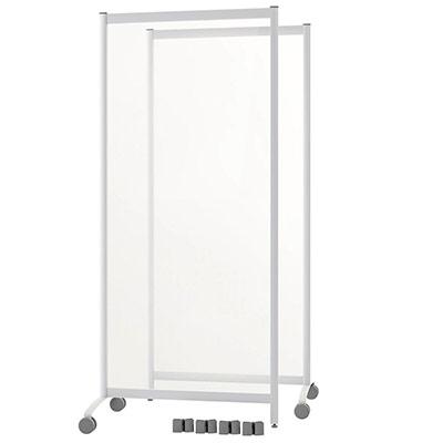 Cloison de protection mobile plexiglass H.170 x L.76 cm - épaisseur 4 mm - lot de 2 (photo)