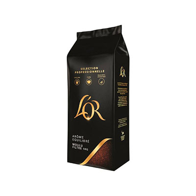 Café moulu l'Or Arabica - arôme équilibré - paquet de 1 kg