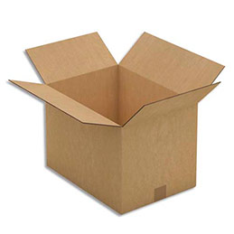 Caisse carton brune - double cannelure - 43 x 30 x 31 cm - lot de 10 (photo)