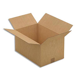 Caisse carton brune - simple cannelure - 45 x 24 x 30 cm - lot de 25 (photo)
