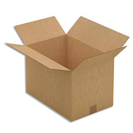 Caisse carton brune - simple cannelure - 45 x 30 x 30 cm - lot de 25 (photo)