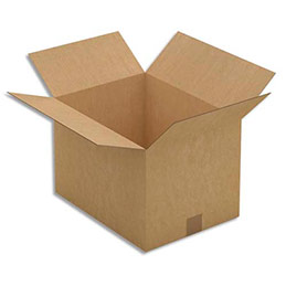 Caisse carton brune - simple cannelure - 40 x 27 x 30 cm - lot de 25 (photo)